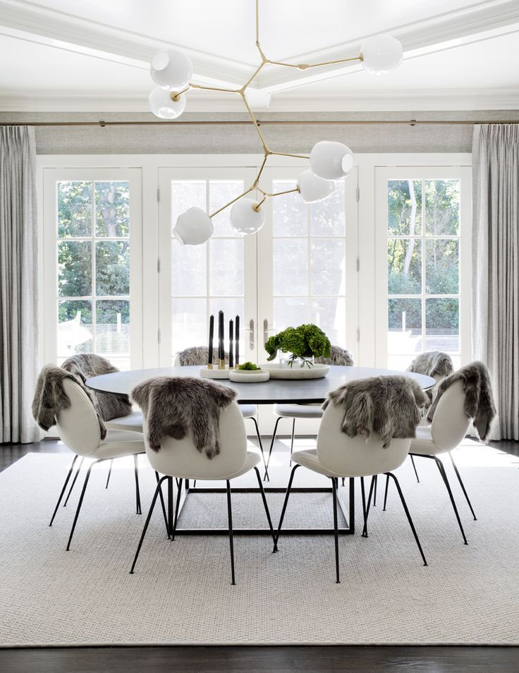 Trendy Large White Round Dining Tables In Stunning, Scandinavian Dining Room With Large Round Table, White (View 7 of 20)