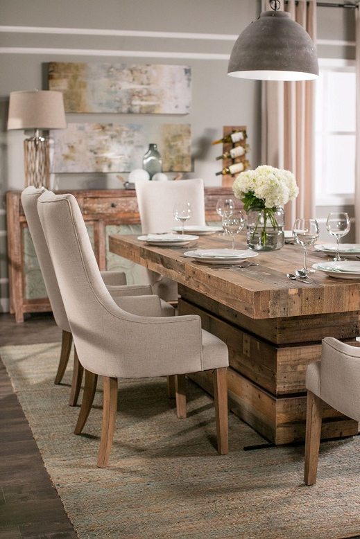Trendy Living Spaces Dining Room Table And Chairs – Dining Room Designs For Jaxon Grey 5 Piece Round Extension Dining Sets With Wood Chairs (View 12 of 20)
