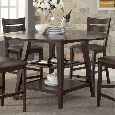 "Trendy Loon Peak Caden 60"" Round Extendable Dining Table (View 4 of 20)"