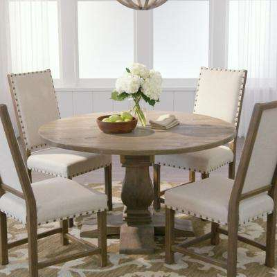 Trendy Macie 5 Piece Round Dining Sets With Regard To Gray – Kitchen & Dining Room Furniture – Furniture – The Home Depot (View 18 of 20)