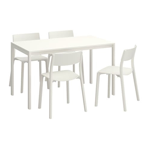 Trendy Melltorp / Janinge Table And 4 Chairs – Ikea With Regard To White Melamine Dining Tables (View 12 of 20)