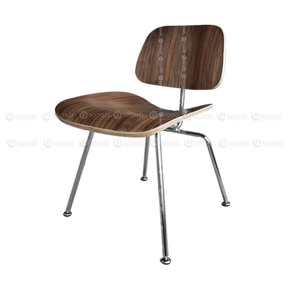 Trendy Mid Century Reproduction Furniture, Replicas, Charles & Ray Eames Pertaining To Plywood & Metal Brown Dining Chairs (View 18 of 20)