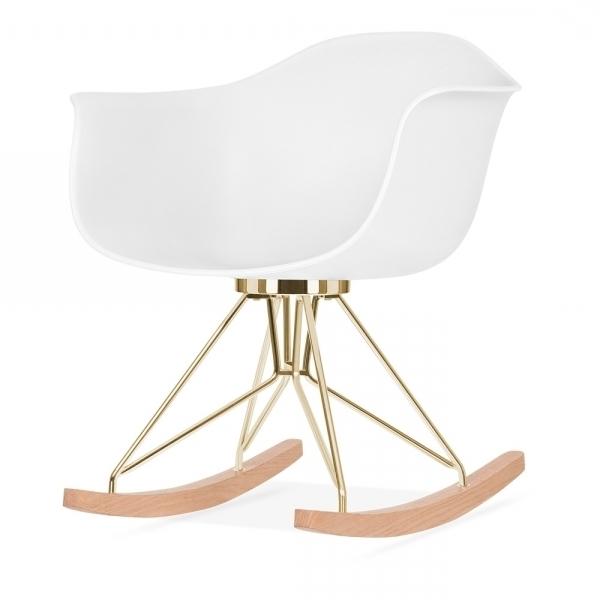Trendy Moda Blue Side Chairs With Regard To Cult Studio White Moda Rocker Cd (View 17 of 20)