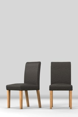 Trendy Moda Grey Side Chairs With Regard To Next Set Of 2 Moda Ii Faux Leather Dining Chairs – Grey – Next At (View 8 of 20)
