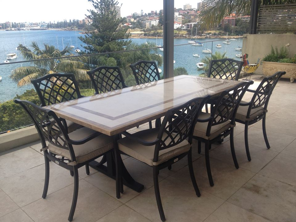 Trendy Natural Stone Outdoor Tables For Stone Dining Tables (View 10 of 20)