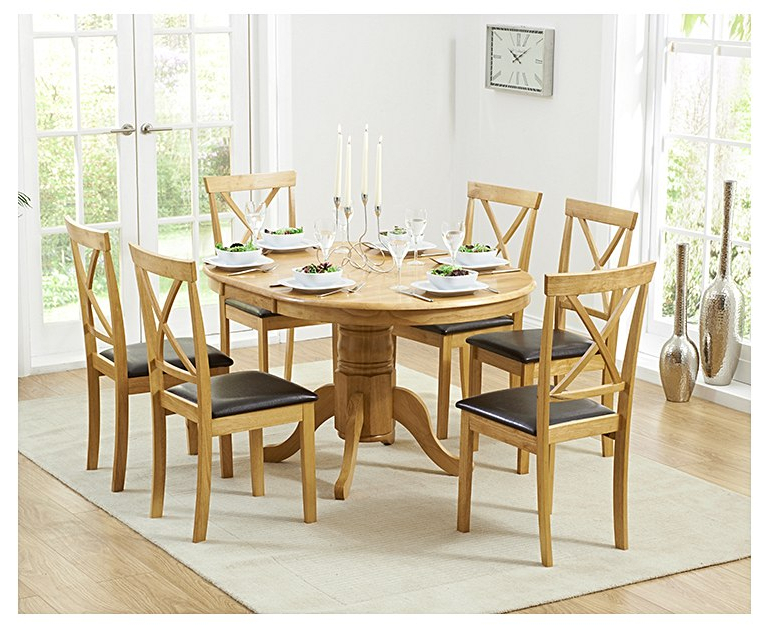 Trendy Oak Extending Dining Sets Intended For Epsom Pedestal Extending Dining Table With Chairs (View 17 of 20)