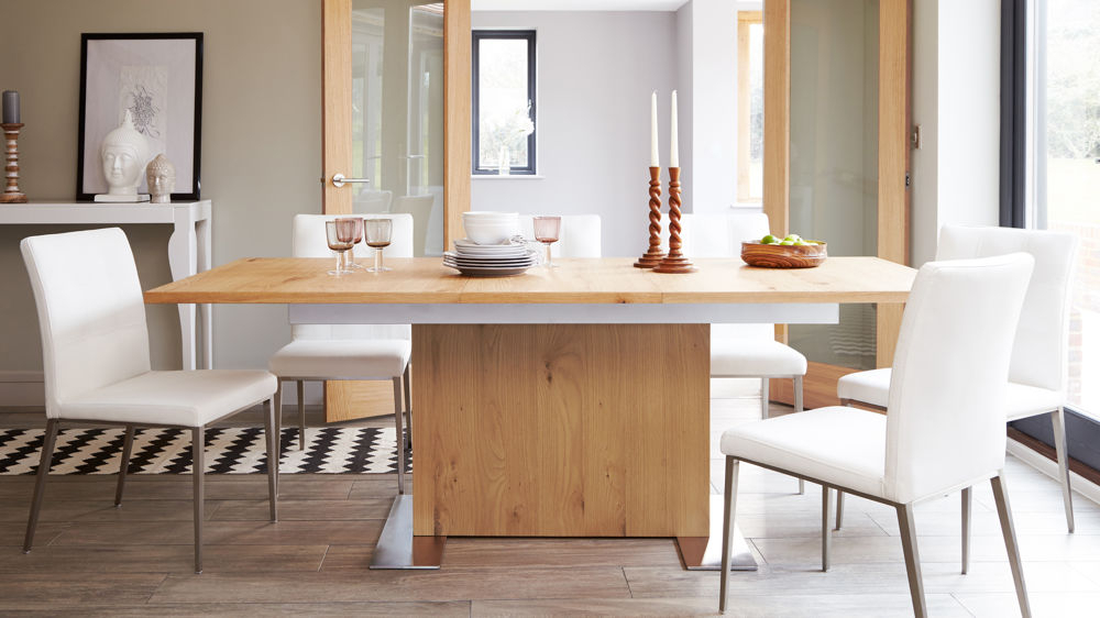 Trendy Oak Extending Dining Tables And Chairs With Regard To Oak Extending Dining Table And Chair Set (View 4 of 20)