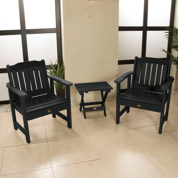 Trendy Oliver Side Chairs Regarding Shop Oliver & James Jacques Garden Chairs And Folding Side Table ( (View 19 of 20)