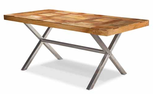 Trendy Parquet Top Dining Table For Parquet Dining Tables (Gallery 17 of 20)