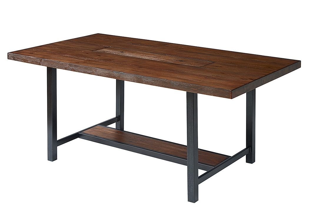 Trendy Penland's Furniture Framework 84' Milk Crate Finish Dining Table, W In Magnolia Home Method Mesh Back Side Chairs (View 8 of 20)