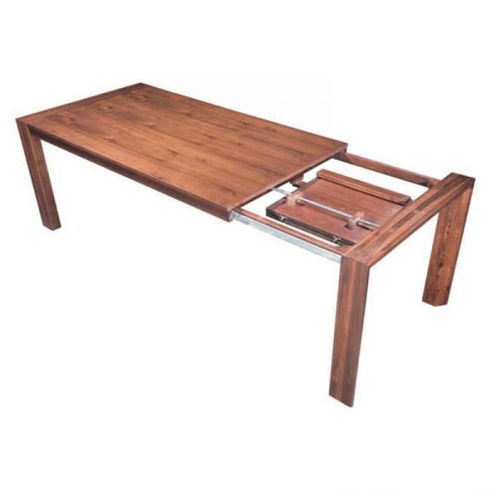 Trendy Perth Dining Tables For Zuo Modern 100588 Perth Extension Dining Table – Chestnut (View 18 of 20)