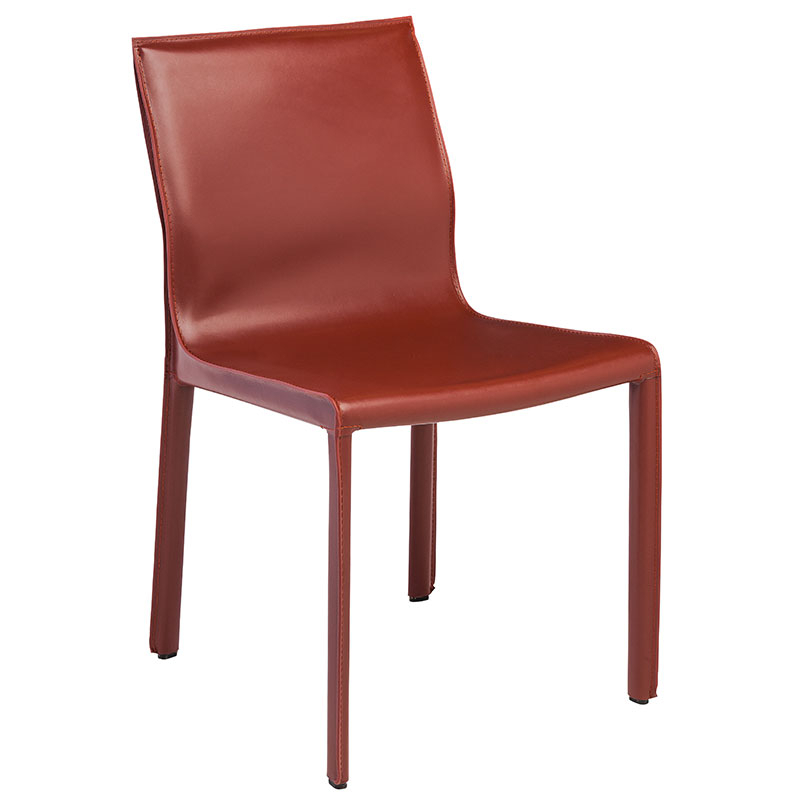 Featured Photo of Red Leather Dining Chairs