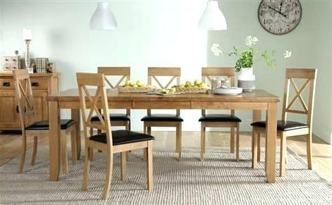 Trendy Round Table 8 Chairs Oak Dining Table And 8 Chairs Oak Extending Inside Extending Dining Tables And 8 Chairs (View 4 of 20)