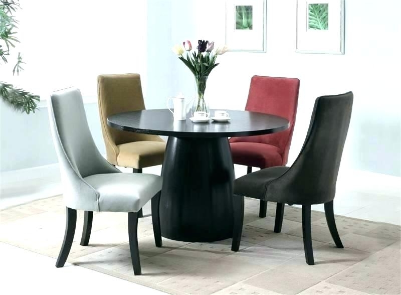 Trendy Round Wooden Dining Table Nice Circle Wood Home Furniture Reclaimed In Black Circular Dining Tables (View 15 of 20)