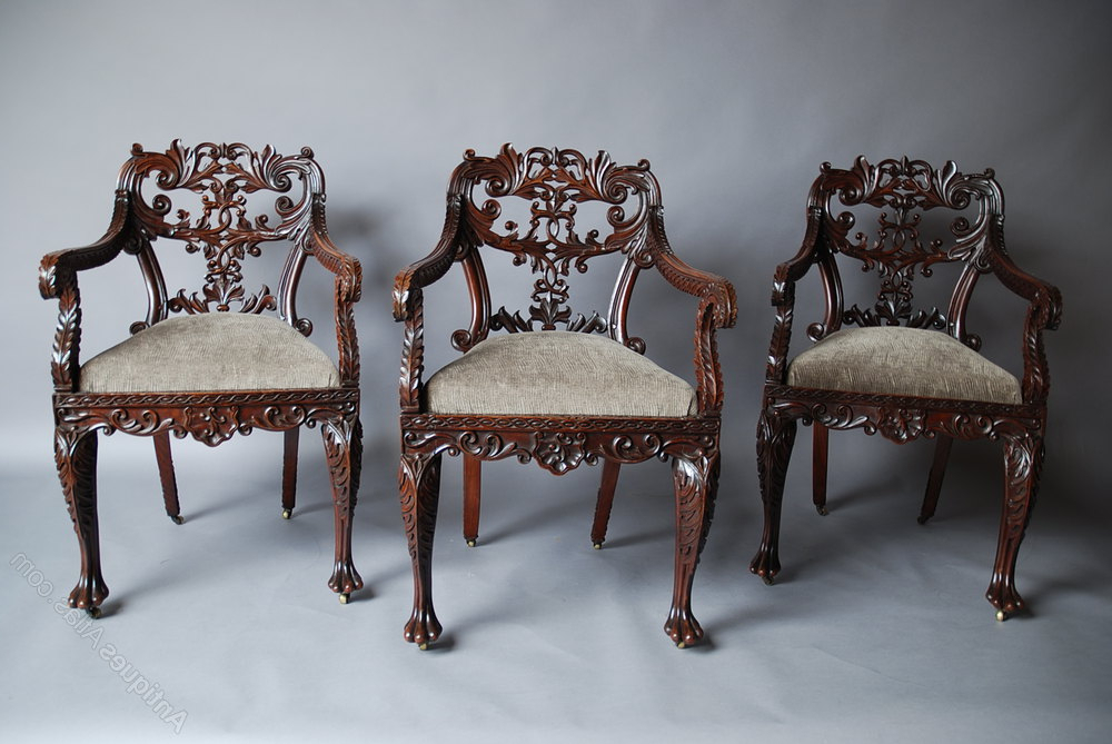 Trendy Set Of Six Anglo Indian Chairs – Antiques Atlas Within Indian Dining Chairs (View 18 of 20)