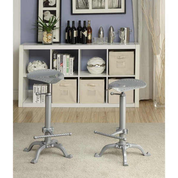 Trendy Shop Jameson Motorcycle Adjustable Bar Stool – Free Shipping Today With Regard To Jameson Grey 5 Piece Counter Sets (View 19 of 20)