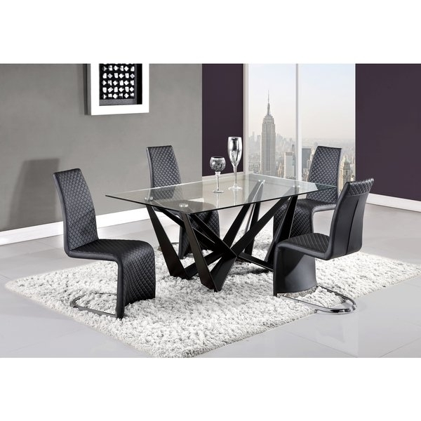 Trendy Shop Quilted Black Curved Dining Chair – Free Shipping Today Within Quilted Black Dining Chairs (View 18 of 20)