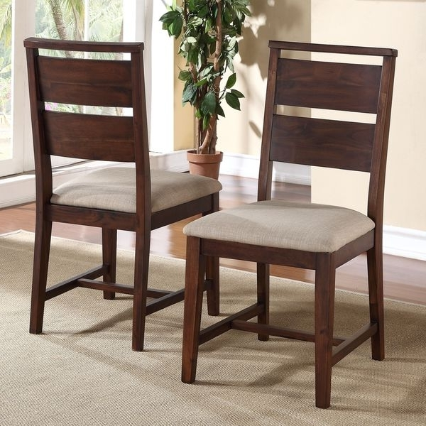 Trendy Shop Solid Wood Modern Dining Chair (set Of 2) – Free Shipping Today Intended For Bowery Ii Side Chairs (View 19 of 20)