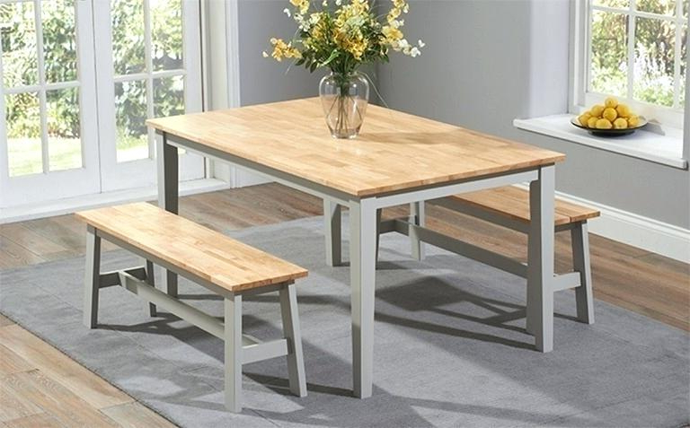 Trendy Small Dining Tables And Bench Sets Throughout Dining Room Sets With Benches Dining Table And Bench Free Plans (View 9 of 20)