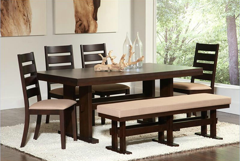 Trendy Small Dining Tables And Bench Sets With 26 Dining Room Sets (big And Small) With Bench Seating (2018) (View 3 of 20)