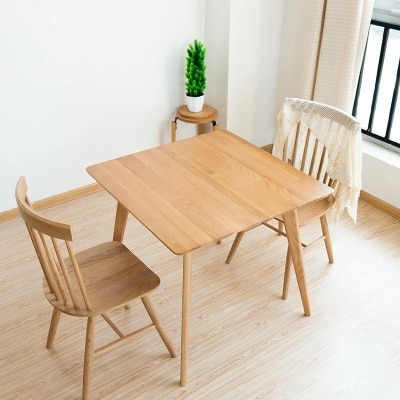 Trendy Square Dining Tables In Solid Wood Dining Table Simple White Oak Square Table Wood Small (View 8 of 20)