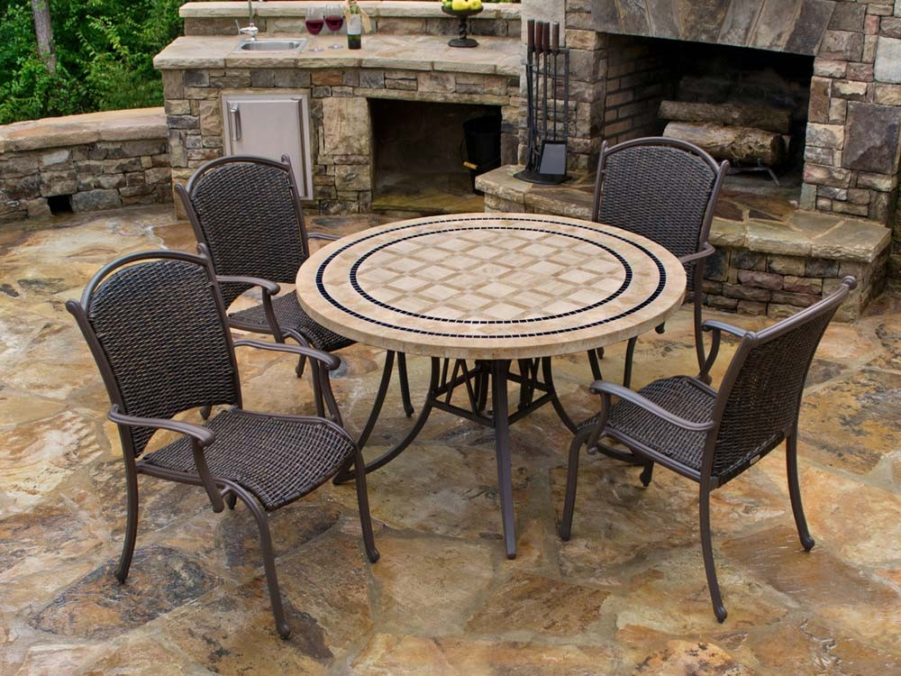 Trendy Tortuga Outdoor Marquesas 5 Piece Wicker Dining Set – Wicker Regarding Outdoor Tortuga Dining Tables (View 18 of 20)
