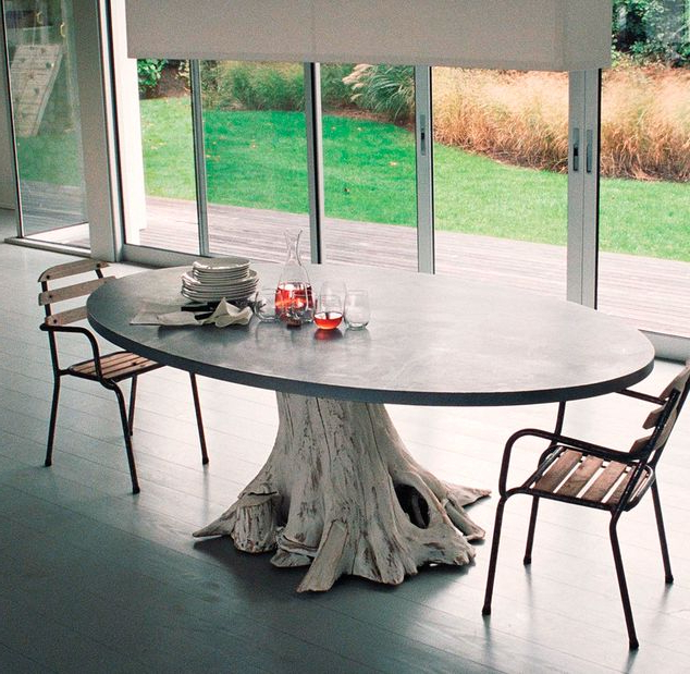 Trendy Tree Trunk Tables : Tree Trunk Table In Tree Dining Tables (View 16 of 20)