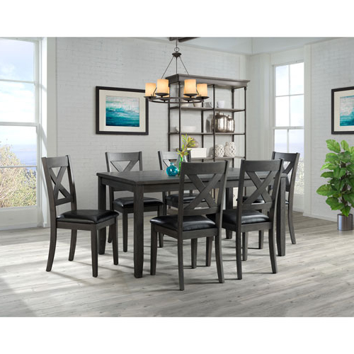 Trendy Valencia 5 Piece Round Dining Sets With Uph Seat Side Chairs In Alexa Transitional 7 Piece Dining Set – Grey : Dining Sets – Best (Gallery 1 of 20)