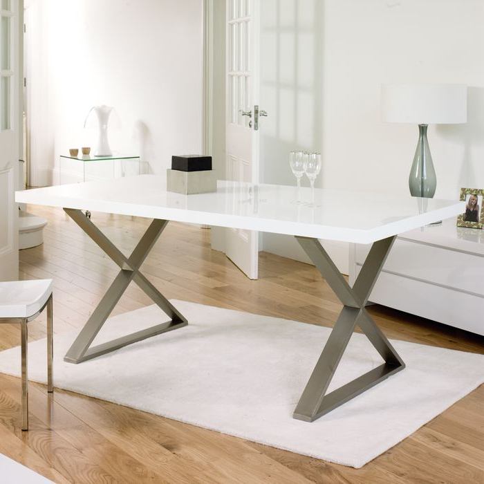Trendy White Gloss Dining Table 140Cm 94 Best Dining Tables & Chairs Images Intended For White Gloss Dining Tables 140Cm (Gallery 16 of 20)