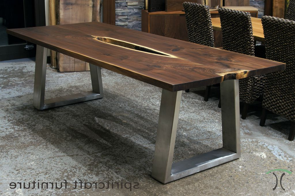 Trendy Wood Table With Metal Legs Intended For Really Encourage For Dining Tables With Metal Legs Wood Top (View 18 of 20)
