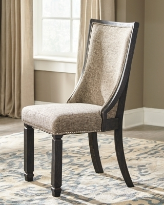 Tyler Creek Dining Room Chair (Set Of 2), Black/grayish Brown Regarding Most Up To Date Magnolia Home Demi Flannel Wing Side Chairs (View 19 of 20)