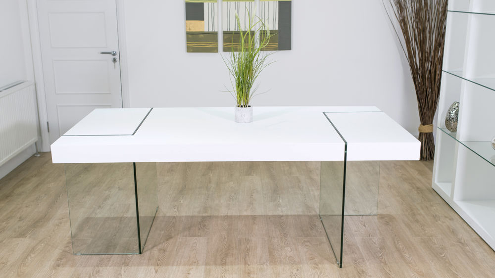 Uk In Glass Dining Tables With Oak Legs (View 18 of 20)