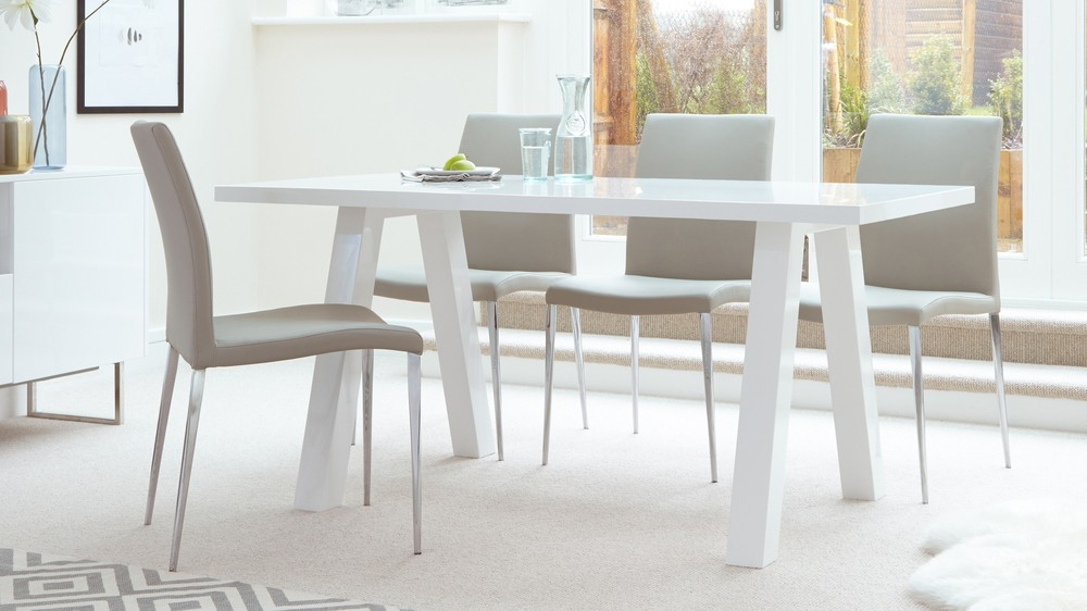 Uk Intended For White Gloss Dining Room Tables (View 13 of 20)