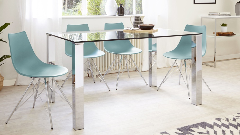 Uk Pertaining To Glass And Chrome Dining Tables And Chairs (View 4 of 20)