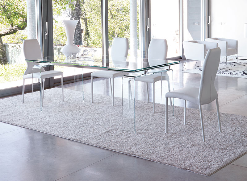 Unico Contemporary Tecno Extending Dining Table Choice Of Colour And Intended For Best And Newest Extendable Glass Dining Tables (View 20 of 20)