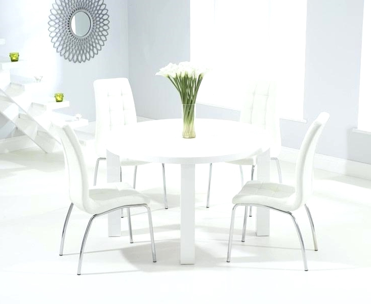 Unique Round Dining Tables Round Dining Table For 6 With Leaf Round Regarding Current Small Round White Dining Tables (Gallery 11 of 20)