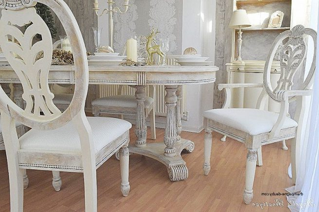 Unique Shabby Chic Cream Dining Table And Chairs Shabby Chic Shabby For Popular Shabby Chic Cream Dining Tables And Chairs (Gallery 16 of 20)