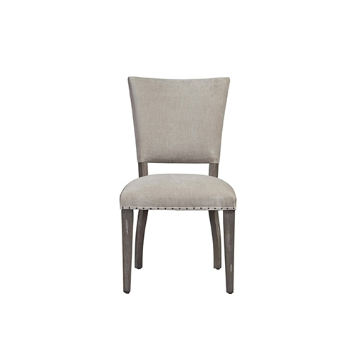 Universal Furniture Curated Greystone Wood And Fabric Pearson Chair Regarding Fashionable Pearson Grey Slipcovered Side Chairs (View 15 of 20)