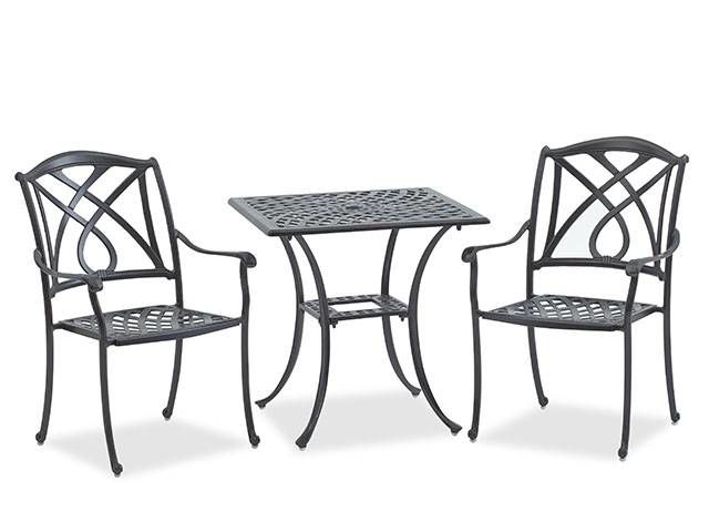 Valencia 3 Piece Counter Sets With Bench Regarding Well Known Valencia 3 Pc. Bistro Set – Fortunoff Backyard Store (Gallery 4 of 20)
