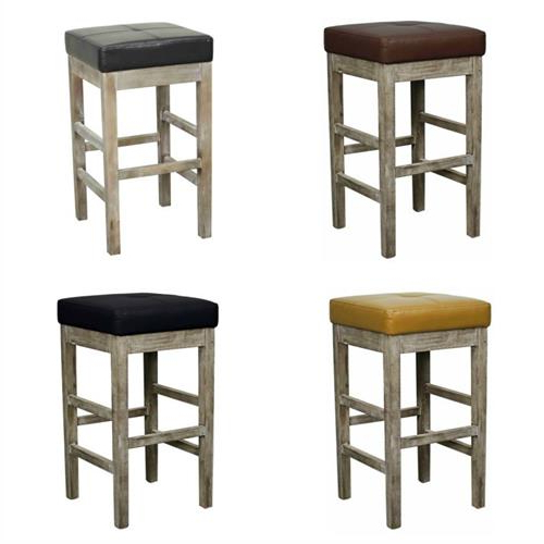 Valencia 4 Piece Counter Sets With Bench & Counterstool With Well Liked Valencia Square Backless Counter Stool Mystique Gray Legs (View 4 of 20)