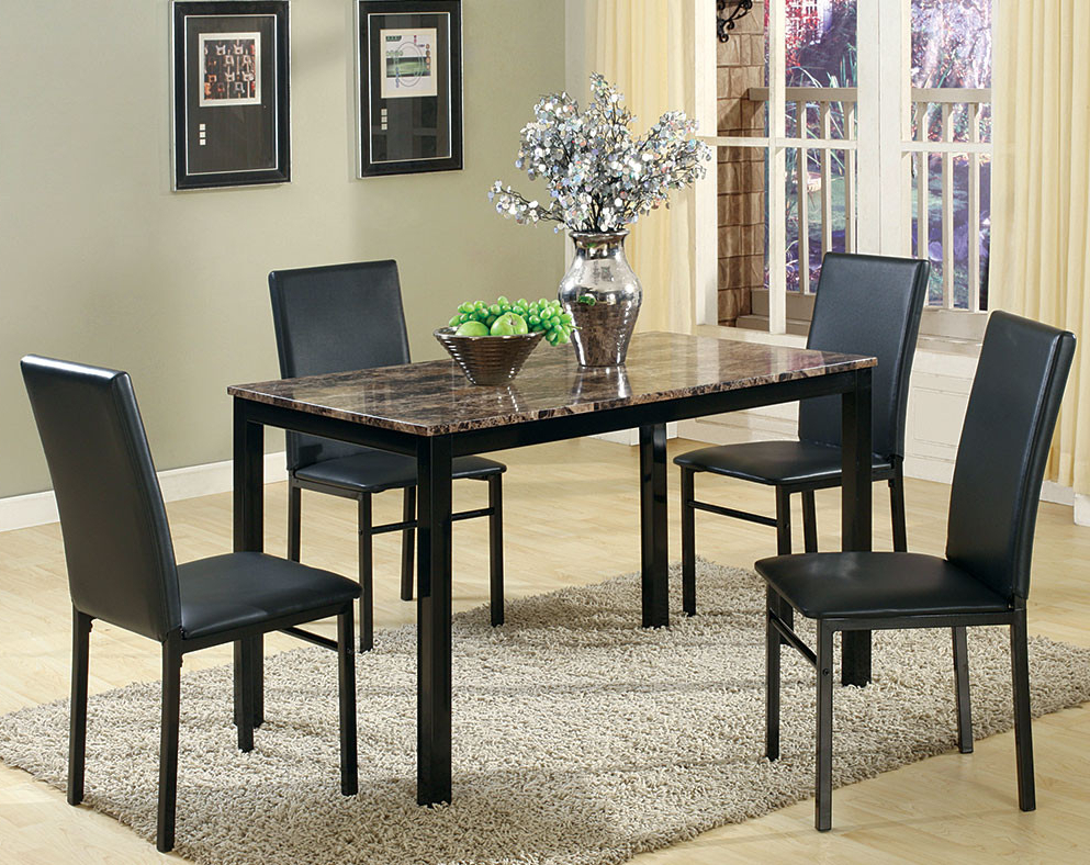 Valencia 5 Piece Counter Sets With Counterstool Intended For Popular Discount Dining Room Sets & Kitchen Tables (Gallery 14 of 20)