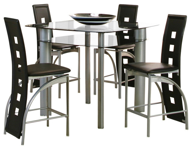 Valencia 5 Piece Counter Sets With Counterstool Regarding Fashionable Dining Rooms > Counter Height (View 3 of 20)