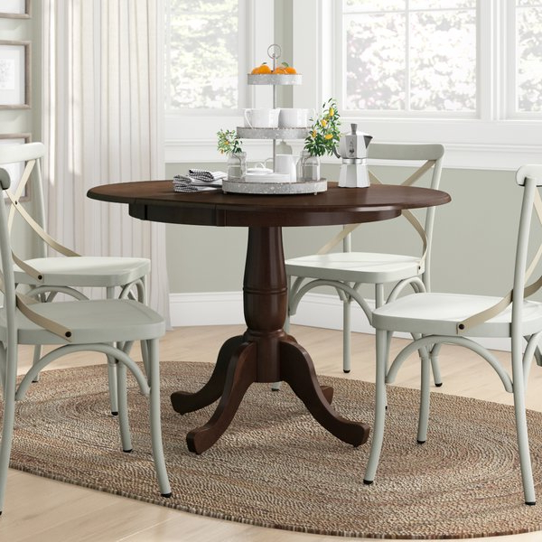 Valencia 5 Piece Round Dining Sets With Uph Seat Side Chairs Intended For Widely Used 36 X 48 Dining Table (Gallery 2 of 20)