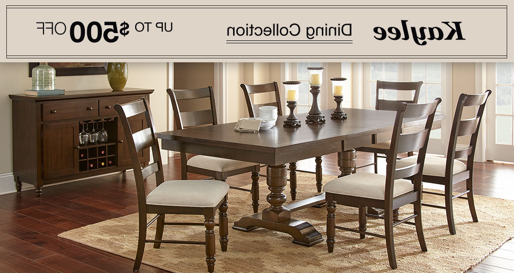 Valencia 5 Piece Round Dining Sets With Uph Seat Side Chairs Throughout Current Dining & Kitchen Furniture (Gallery 9 of 20)