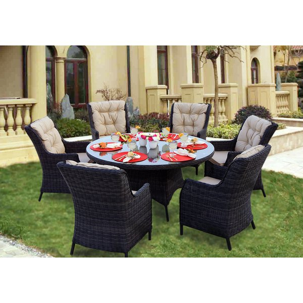 Valencia 60 Inch Round Dining Tables In 2018 Shop Darlee Valencia Charcoal Wicker 7 Piece Dining Set With (View 16 of 20)
