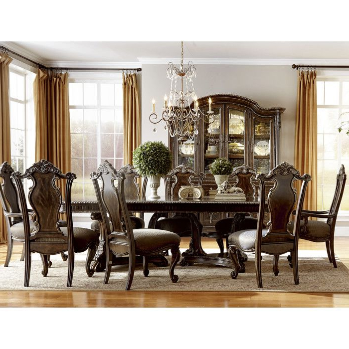 Valencia 72 Inch 6 Piece Dining Sets Throughout 2018 Astoria Grand Hepburn 9 Piece Dining Set (View 11 of 20)