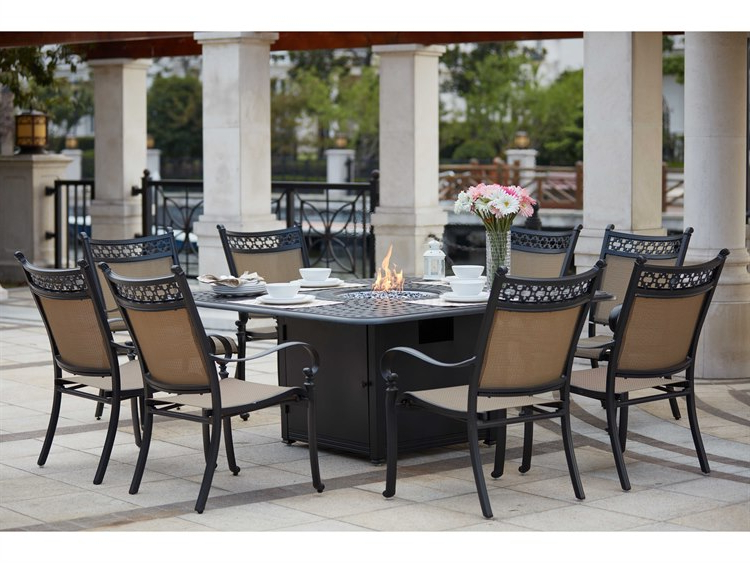 Valencia 72 Inch 7 Piece Dining Sets Throughout Favorite Darlee Outdoor Living Standard Mountain View Cast Aluminum 9  Piece (View 13 of 20)
