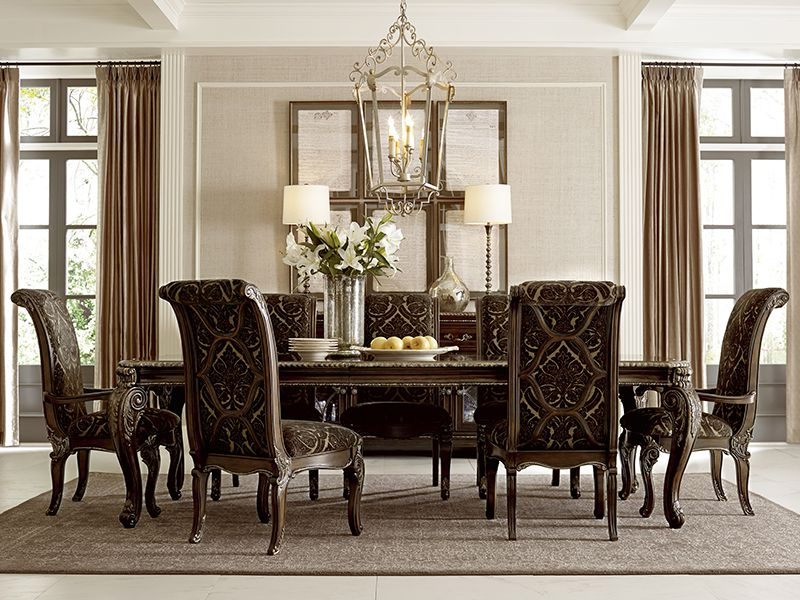 Valencia 72 Inch 7 Piece Dining Sets With Well Known A.r.t. Furniture's Gables Collection Leg Dining Table, And Arm And (Gallery 19 of 20)