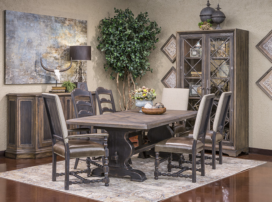 Valencia 72 Inch Extension Trestle Dining Tables Within Most Up To Date Hemispheres  Dining Category (View 18 of 20)