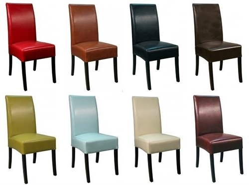 Valencia Side Chairs With Most Popular Valencia Bonded Leather Side Chair (Gallery 2 of 20)